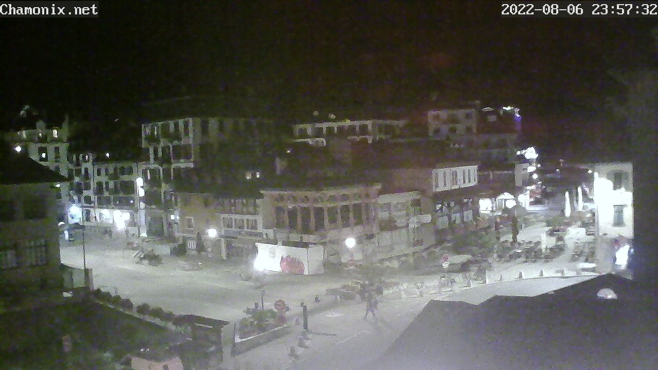 Chamonix Town Center Place Balmat Webcam