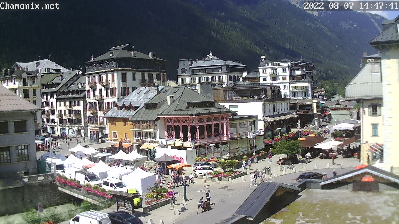Chamonix Town Center Webcam - Place Balmat