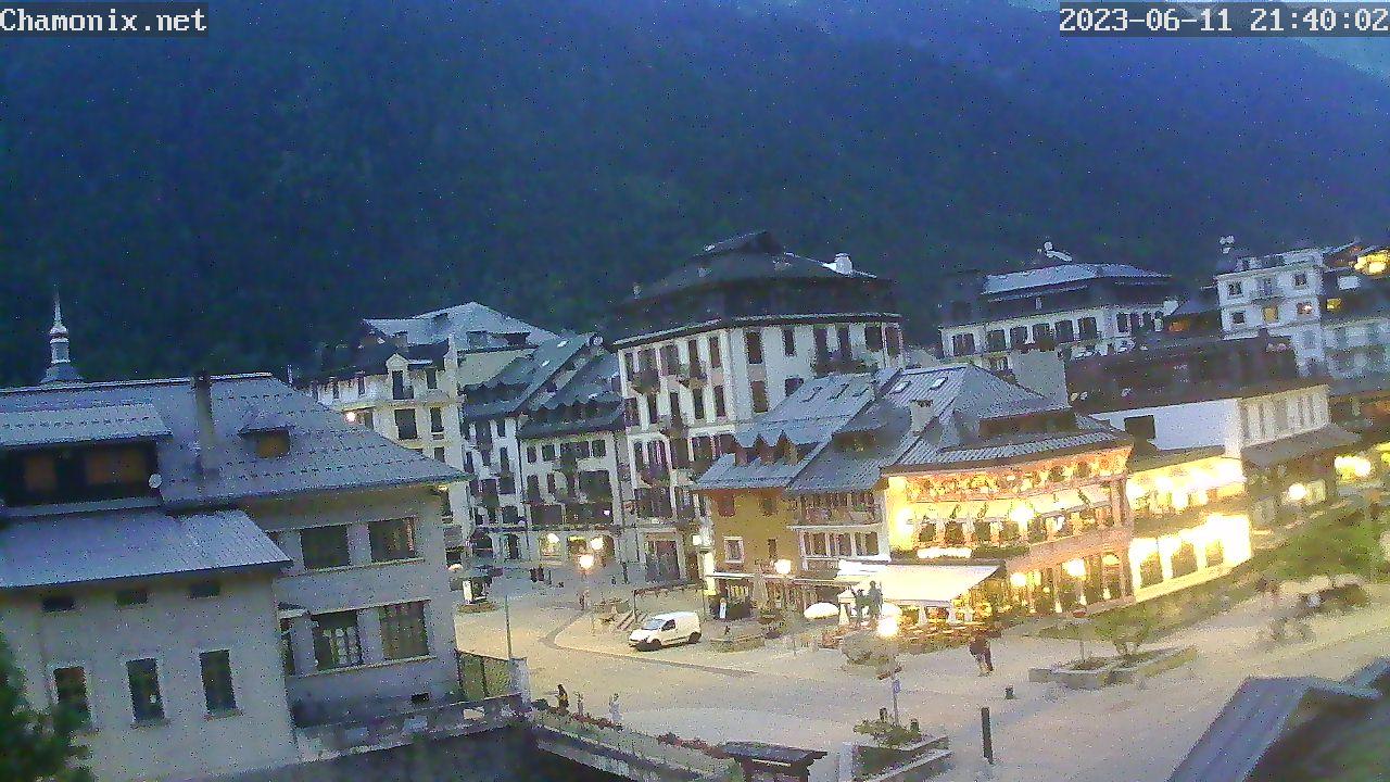 Chamonix Town Center Webcam - Place Balmat