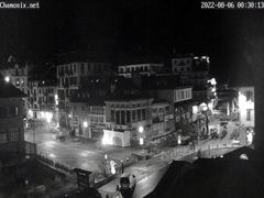 Webcam - Centre Ville de Chamonix, Place Balmat